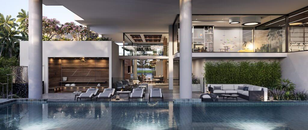 Pool and outside area for 372 Marine Parade