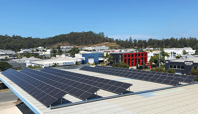 commercial solar installed on roof