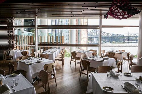 restaurant overlooking Brisbane