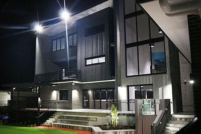 arcadia college building outdoor lighting