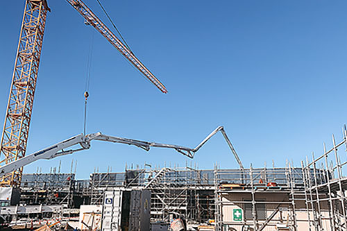 Infrastructure Project with Crane