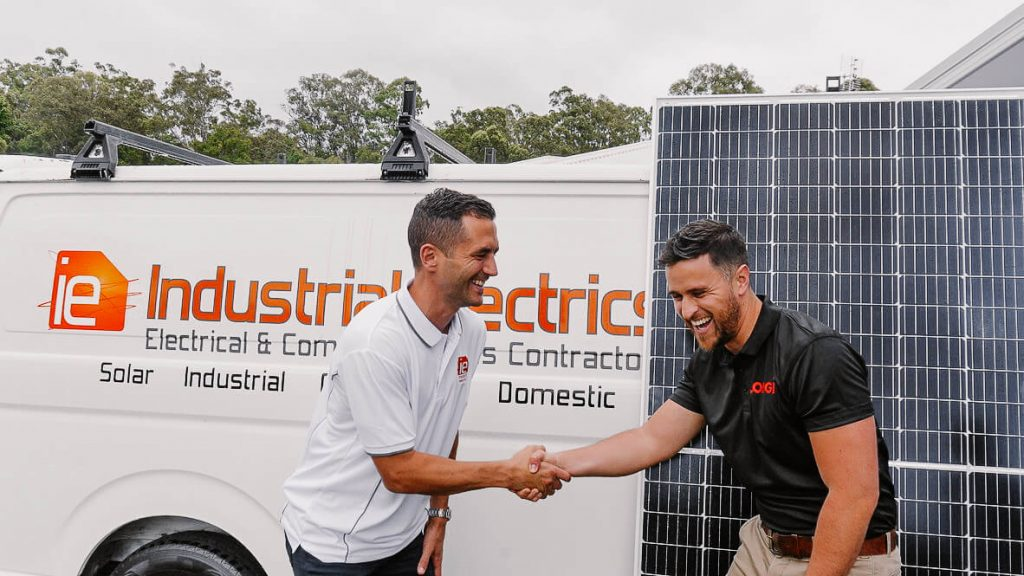 Industrial Electrics and LONGi Partners Shaking Hands